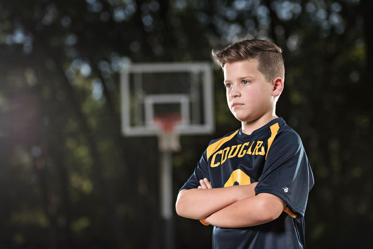 Mckinney family photographer for youth kids sports photos