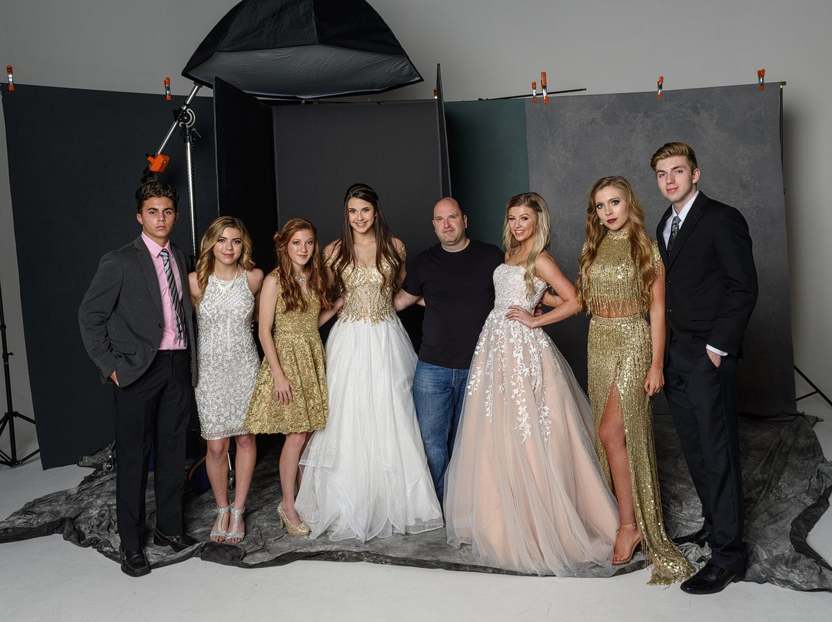 mckinney photographer behind the scenes after prom group photos in studio