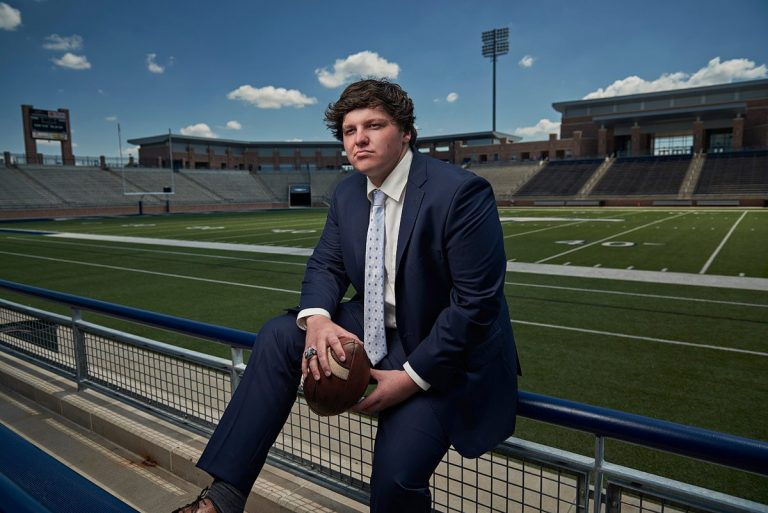 Allen Football Senior Fashion Sports Photos – Nick Trice