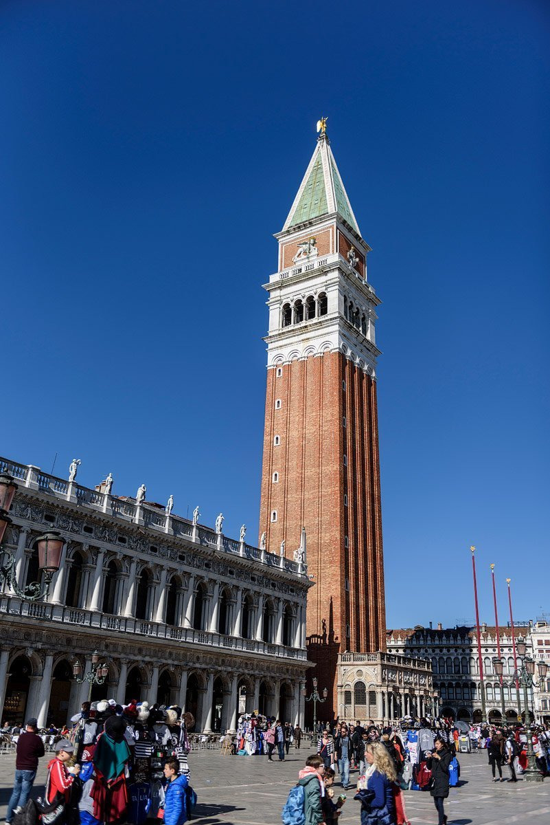 campanile tower in san marco piazza venice italy