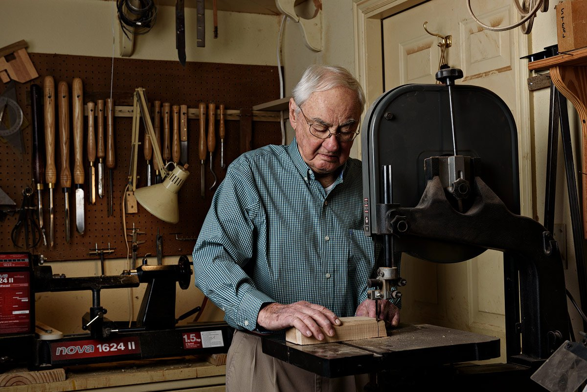 McKinney portrait photographer for grandfather photos in wood shop
