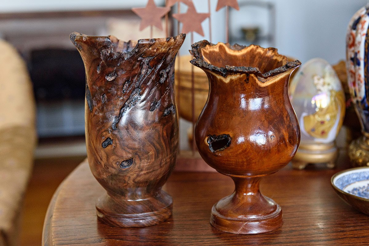wood vase carved from single piece mckinney texas