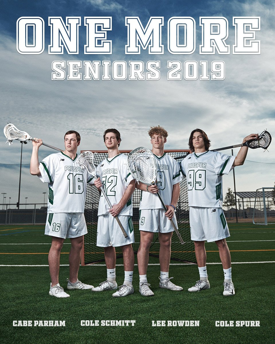 Prosper senior ad for lacrosse teammates