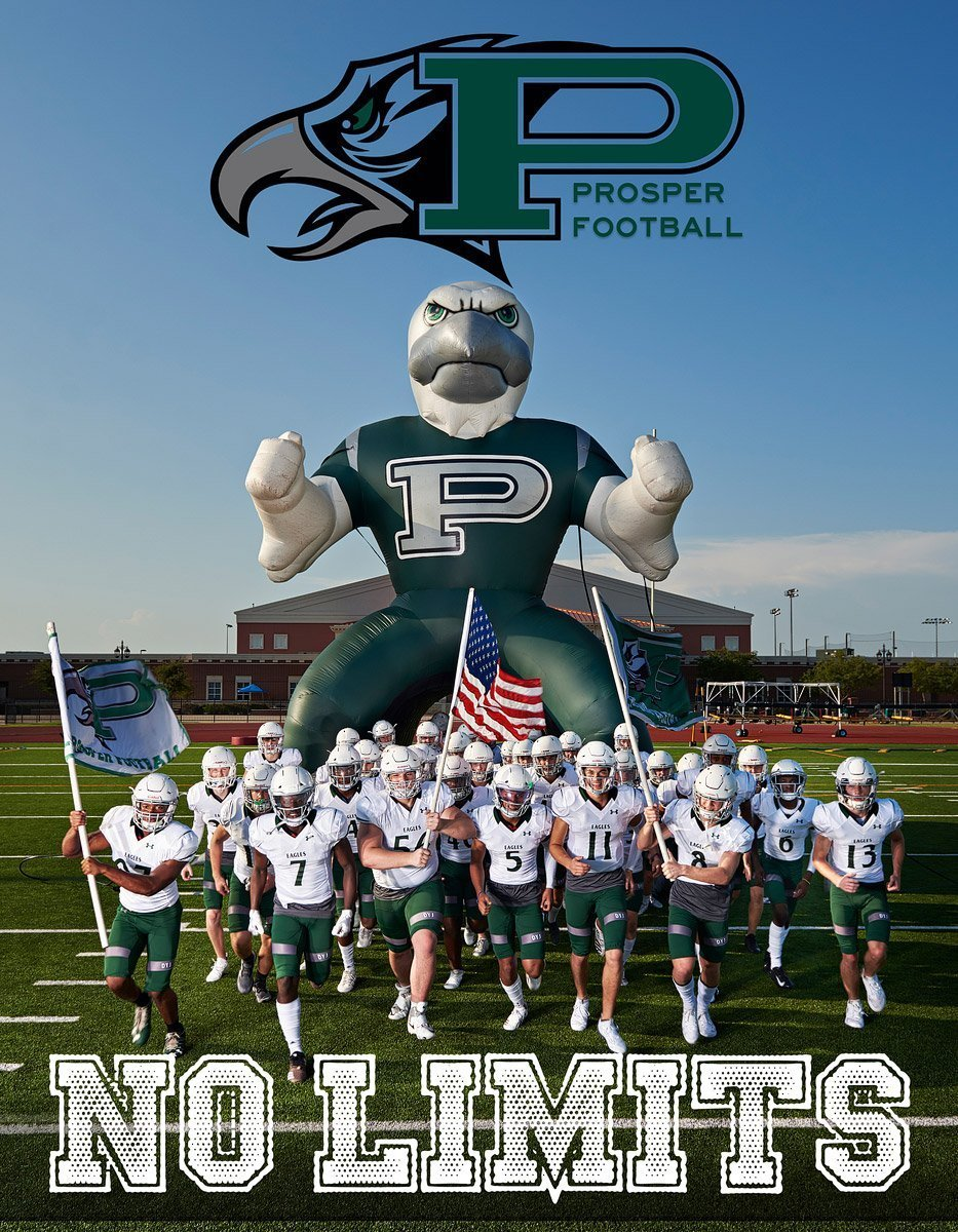 Prosper football ad deadline program cover eagles