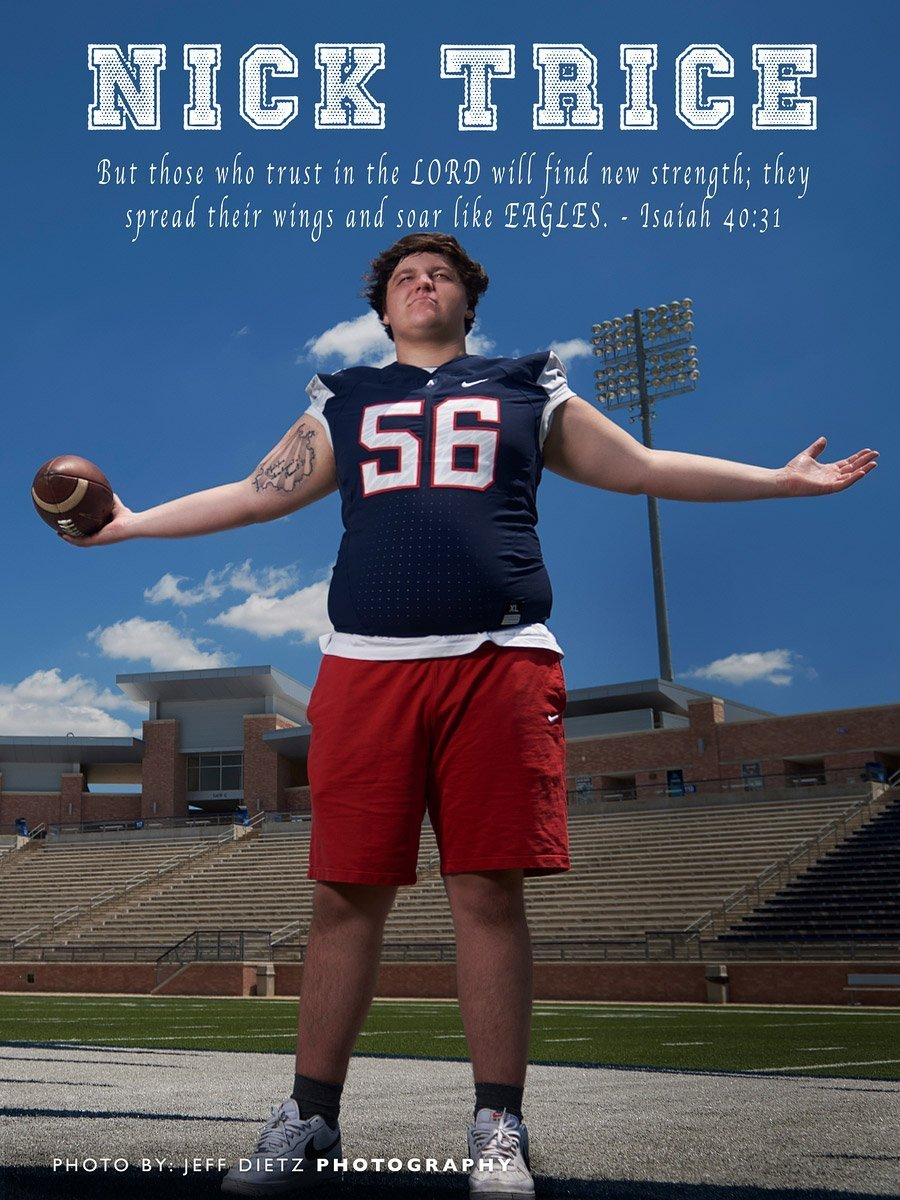 Allen football ad deadline program ad of senior football player
