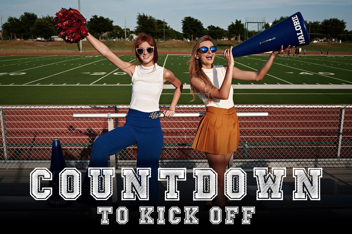 Dallas Cheerleaders Senior photos of Allen Cheerleaders countdown to kick off