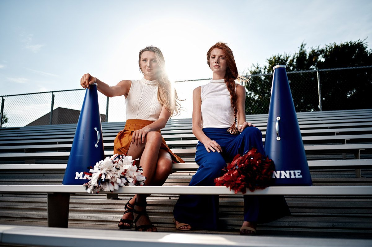 fashion inspired cheerleader senior portraits